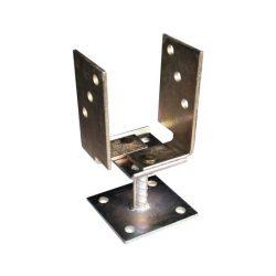oszloptalp lecsavarozható állítható 70-130 mm d=20 sárga horgany