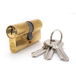 zárbetét 40/50mm 3 kulcs réz
