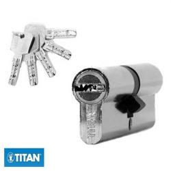 zárbetét TITAN K5 30/45mm fúrásvésett 5 fúrt kulcs nikkel