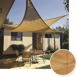 Extra erős, szőtt napvitorla - háromszög alakú - 3,6m x 3,6m x 3,6m