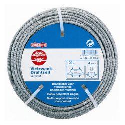 drótkötél horganyzott d=4 20m DIN3055 SB