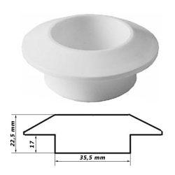 SB szellőző karika műanyag fehér