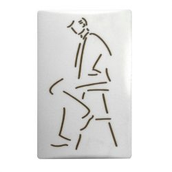 SB piktogram öntapadós műanyag vonalas férfi