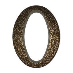 SB alumínium házszám  0 barna 10cm