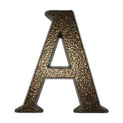 """SB alumínium házszám  """"A"""" betű barna 10cm"""