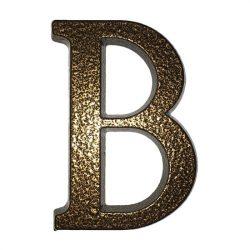 """SB alumínium házszám  """"B"""" betű barna 10cm"""