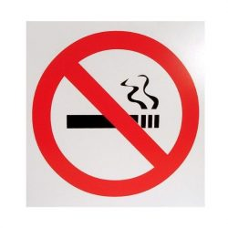SB tábla műanyag 13x13cm cigaretta szimbólum