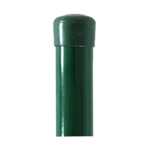 Retic oszlop BPL 48/1750 mm, zöld, Zn + PVC, kalappal