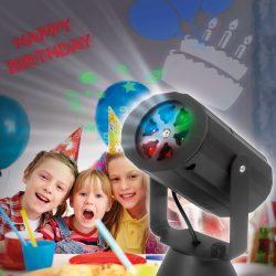 Elemes LED projektor - születésnap, karácsony, halloween - IP20