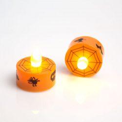 LED teamécses - Halloween, narancs - 2 db / csomag