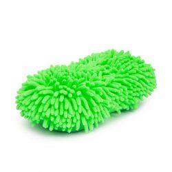 Kétoldalú mikroszálas autómosó szivacs zöld