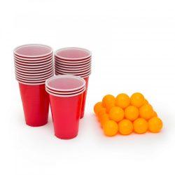 Sörpong készlet - 24 db labda és pohár