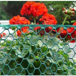 Műanyag baromfirács, szemméret: 22x22mm - zöld, 0,5 x 30m