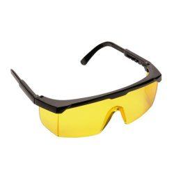 védőszemüveg műanyag sárga