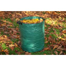 Lombgyűjtő zsák 120l, zöld, 60x50cm