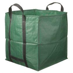 Lombgyűjtő zsák 325l zöld, 68x68x70cm, 170g/m2
