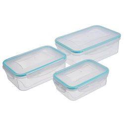 MagicHome műanyag ételhordó/ételtároló - 0,50 + 1,00 + 1,50 liter