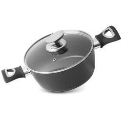 Pot MagicHome Black Line, 20 cm, with lid