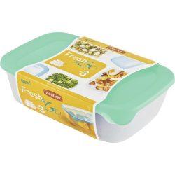 Curver műanyag ételhordó/ételtároló doboz - 0.5L + 1L + 2L - zöld