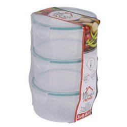 Doza MagicHome Lunchbox R808 3x0,80 lit, set of 3, round, Clip