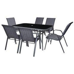 Balcony set EMILIA, 1x table, 6x chair