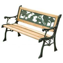 Garden bench MINI JUMANJI, metal / wood, small