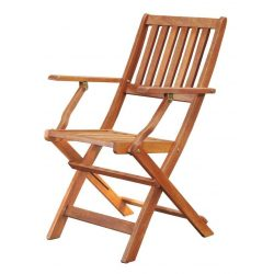 LEQ HERRINGE chair, wooden, with armrests