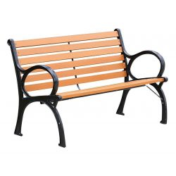 Garden bench XIMENA, metal / wood