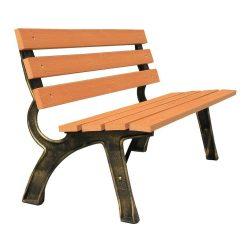 Garden bench PAYTON, metal / wood