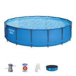 Pool Bestway® Steel Pro MAX, 427x107 cm, filter, ladder, tarpaulin