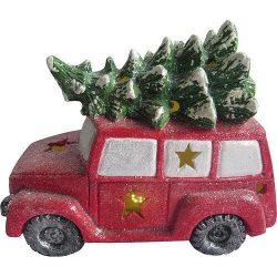 Decoration Xecco 7523, Minivan with tree, Magnesium, 35 cm, LED