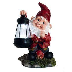 Napelemes törpe lámpa - 17 x 16 x 27 cm