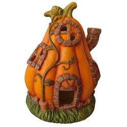 Halloween tök dekoráció, gyertya tartós, 34 cm