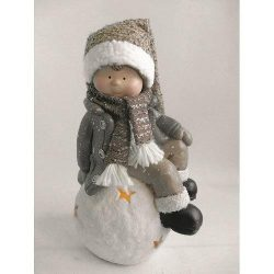 Character Xecco 185060, Boy on snowball LED, magnesia