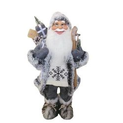 Decoration XmSA40, Santa standing, 152 cm, with skis