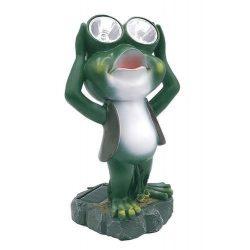 Solar Frog Lamp, 14x12x25 cm, 2 LEDs, AAA