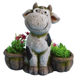 Decoration Gecco W1949, Cow / flowerpot, magnesia, 39 cm