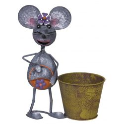 Decoration Mecco 2394, Mouse with pot, 30 cm