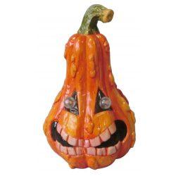 Halloween tök dekoráció LED világítással, 21 cm
