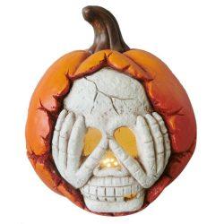 Halloween tök dekoráció LED világítással, 29 cm