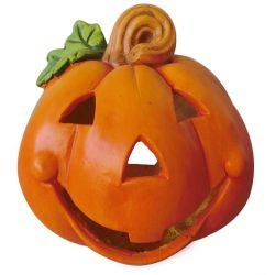 Halloween tök dekoráció, gyertya tartós, 27 cm