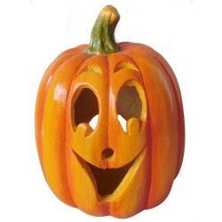 Halloween tök dekoráció, gyertya tartós, 31 cm