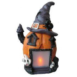 Halloween tök dekoráció LED világítással, 49 cm