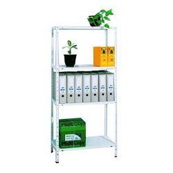 Könnyű szerkezetű fehér polc - 4 polcos - 40kg/polc