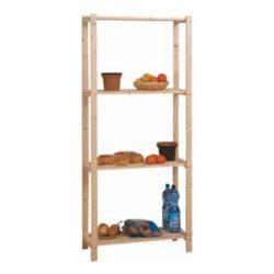 Fa háztartási polc - 4 polcos - 170 x 70 x 30 cm