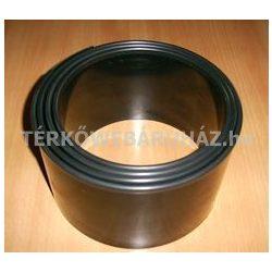 Ágyásszegély (ABS) tekercsben díszcsíkkal (dekoratív) - fekete, barna, zöld