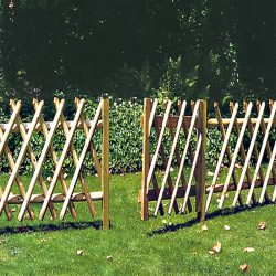 Vadászkerítés egyszárnyú kapu - 1.  osztályú fenyőből - 100 x 100 cm