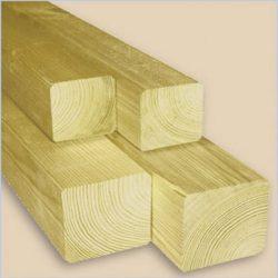 Felületkezelt fa oszlop kerítéselemekhez - 7 x 7 x 100 cm