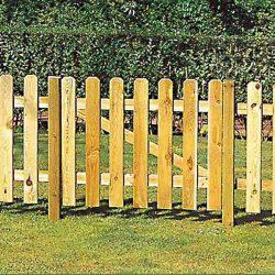 Nápoly egyszárnyú kapu - 1. osztályú fenyőből - 100 x 100 cm