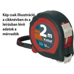 Mérőszalag, gumírozott, 2 stoppos; 10m×25mm